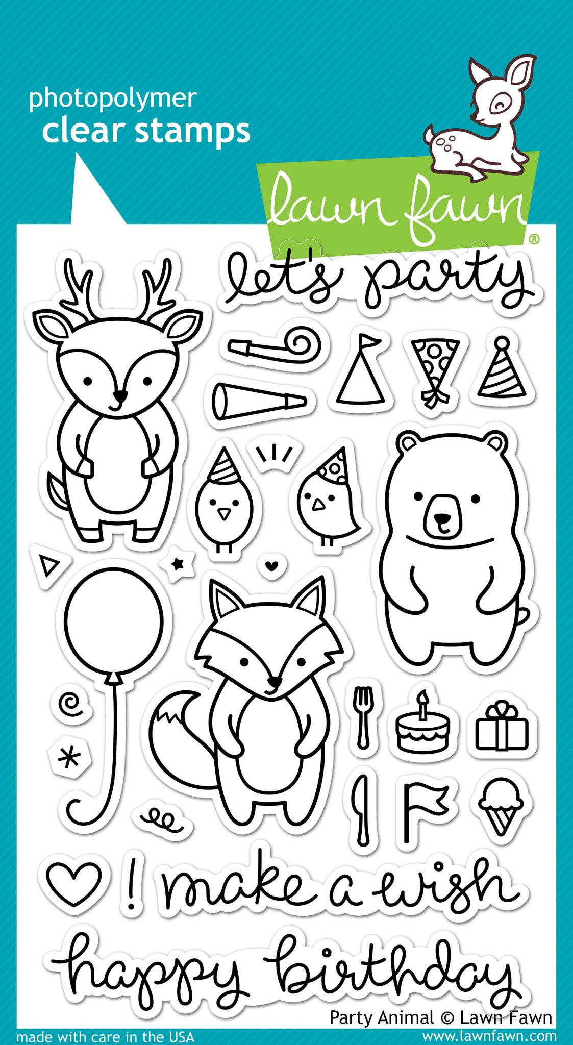 "Lawn Fawn Clear Stamps 4/""x6/""-costume Party"