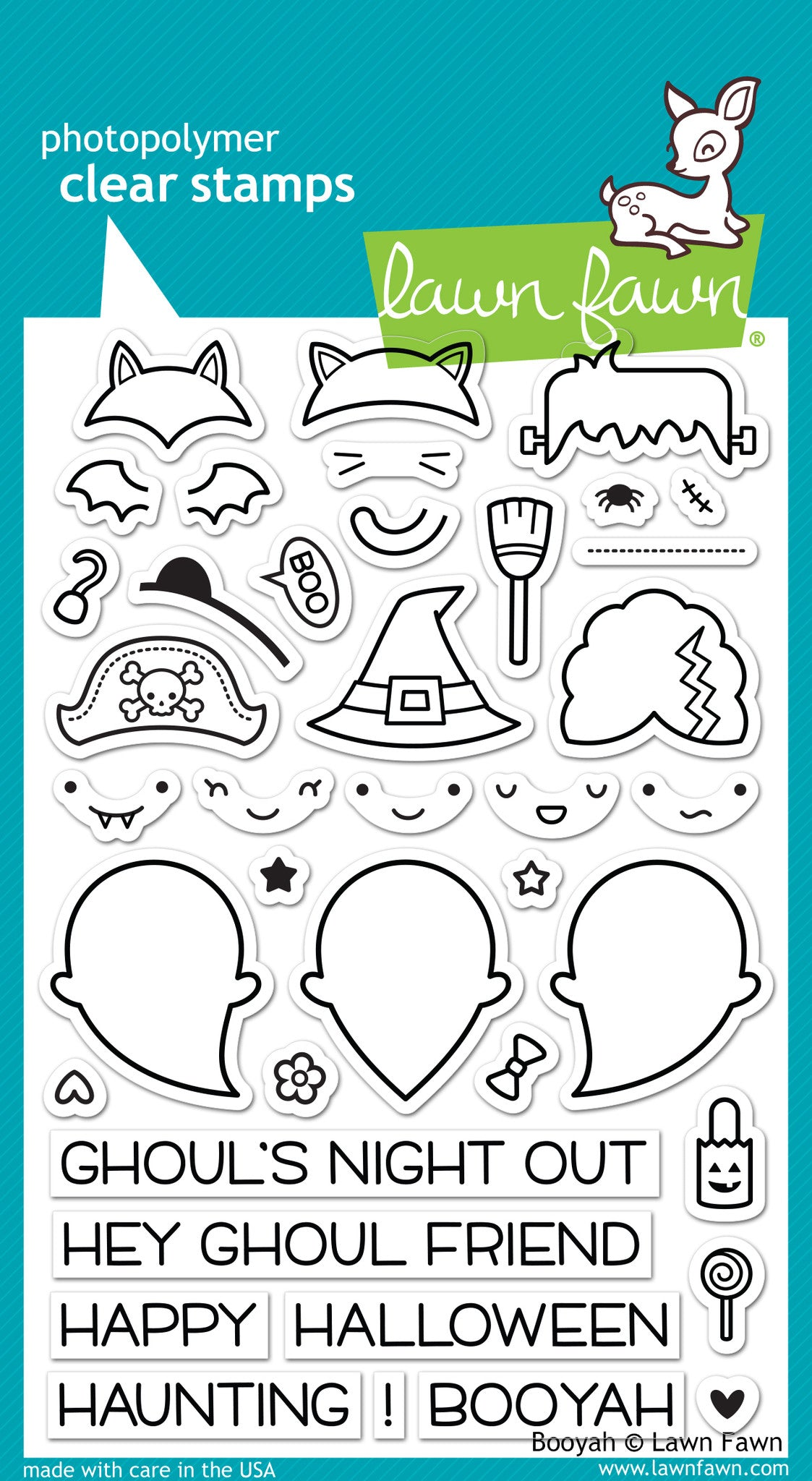 LF932 Booyah Lawn Fawn Clear Stamps