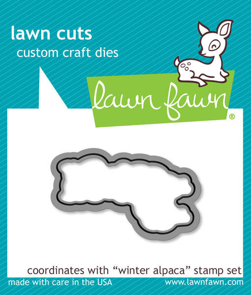 winter alpaca - lawn cuts