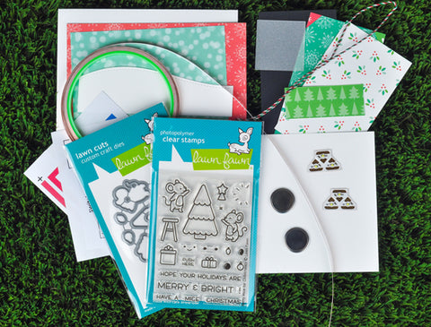 merry mice: light up card making kit