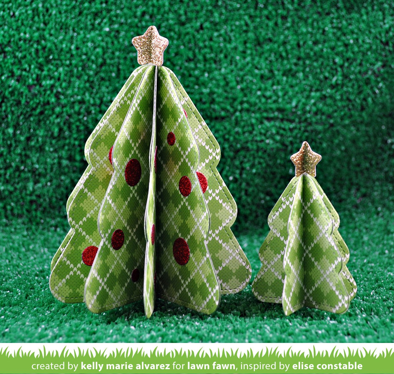 Stitched Christmas Tree Frames Lawn Fawn