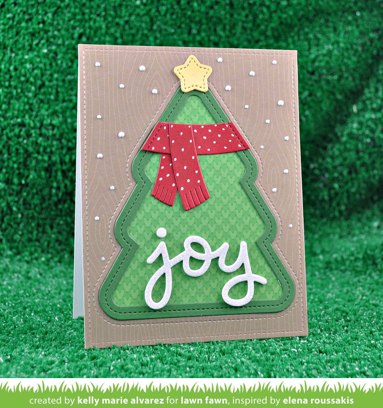stitched christmas tree frames