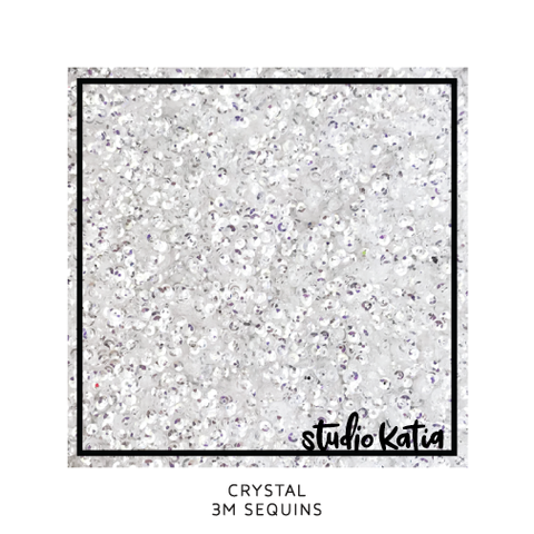 studio katia - crystal clear 3mm sequins