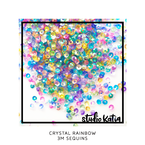 studio katia - crystal rainbow 3mm sequins