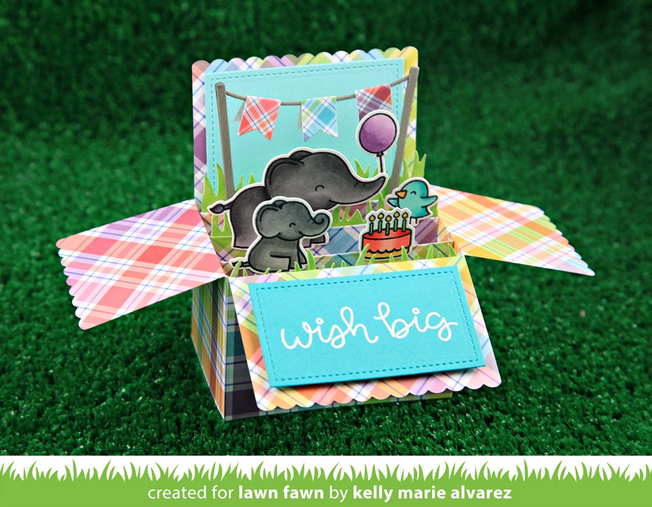 Scalloped Box Card Pop Up Lawn Fawn