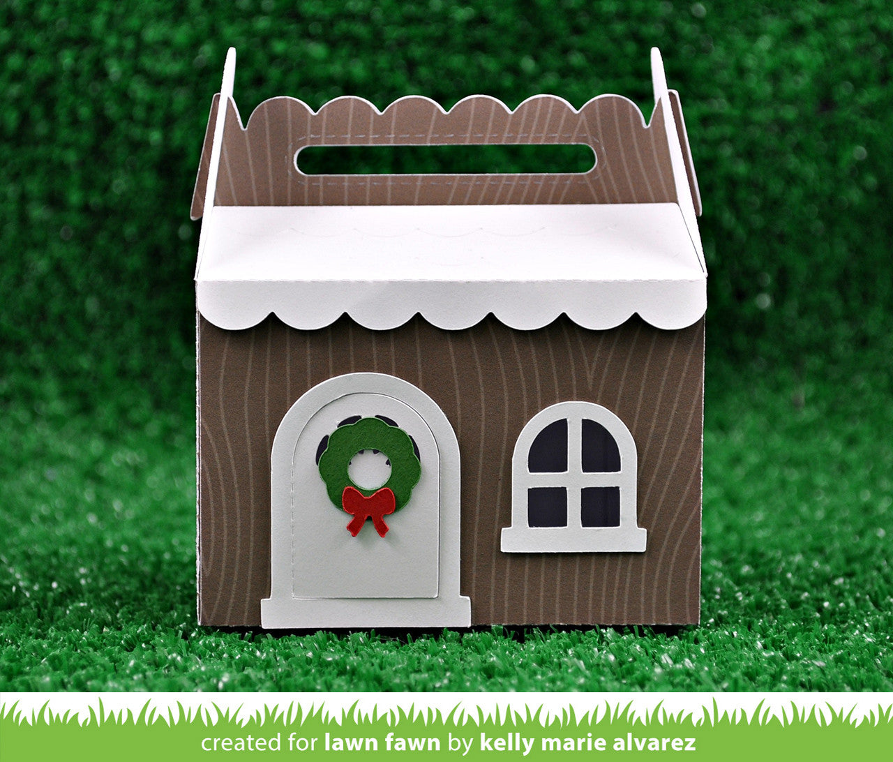 scalloped treat box winter house add-on