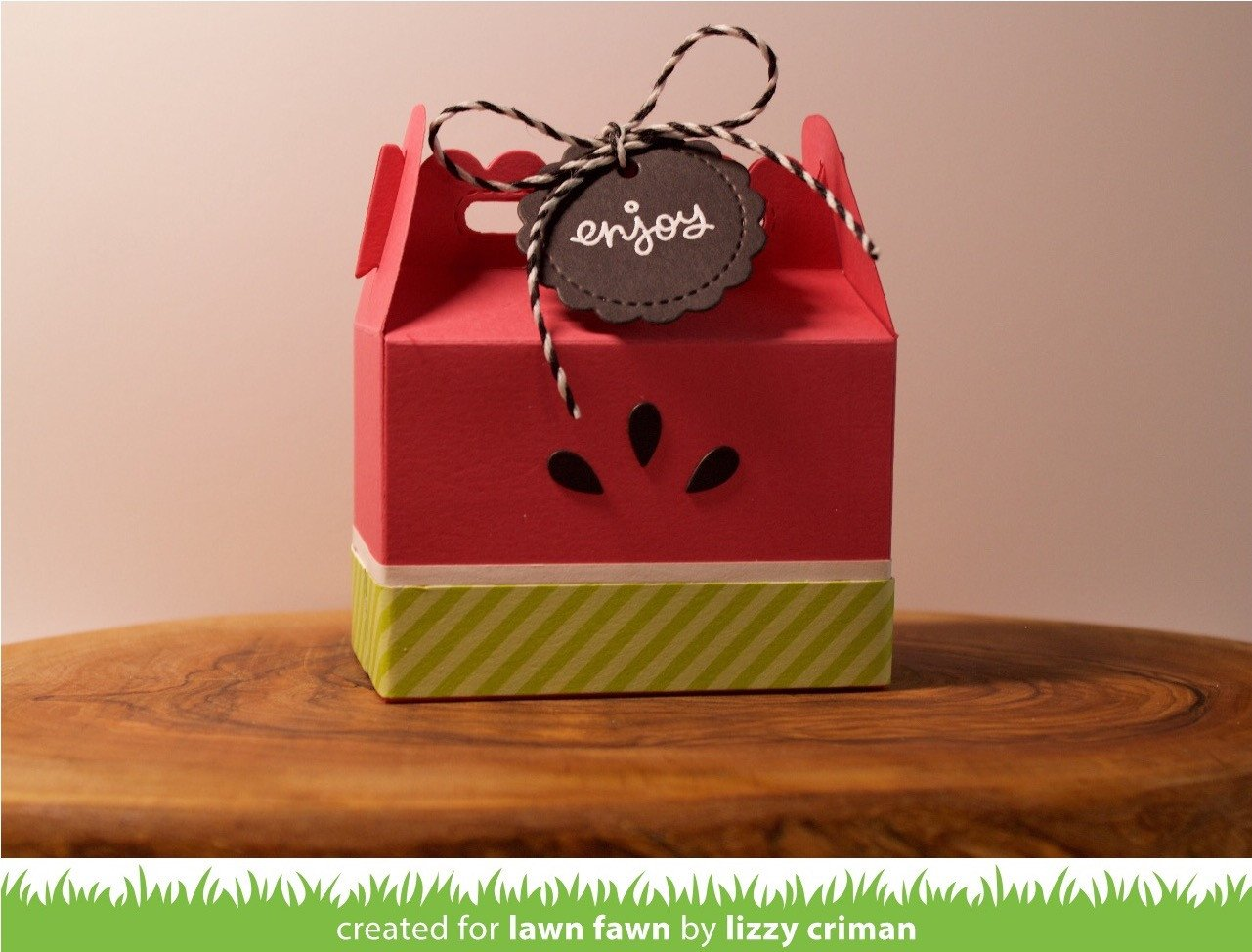 scalloped treat box