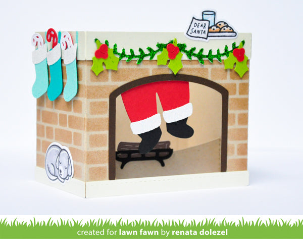 shadow box card fireplace add-on