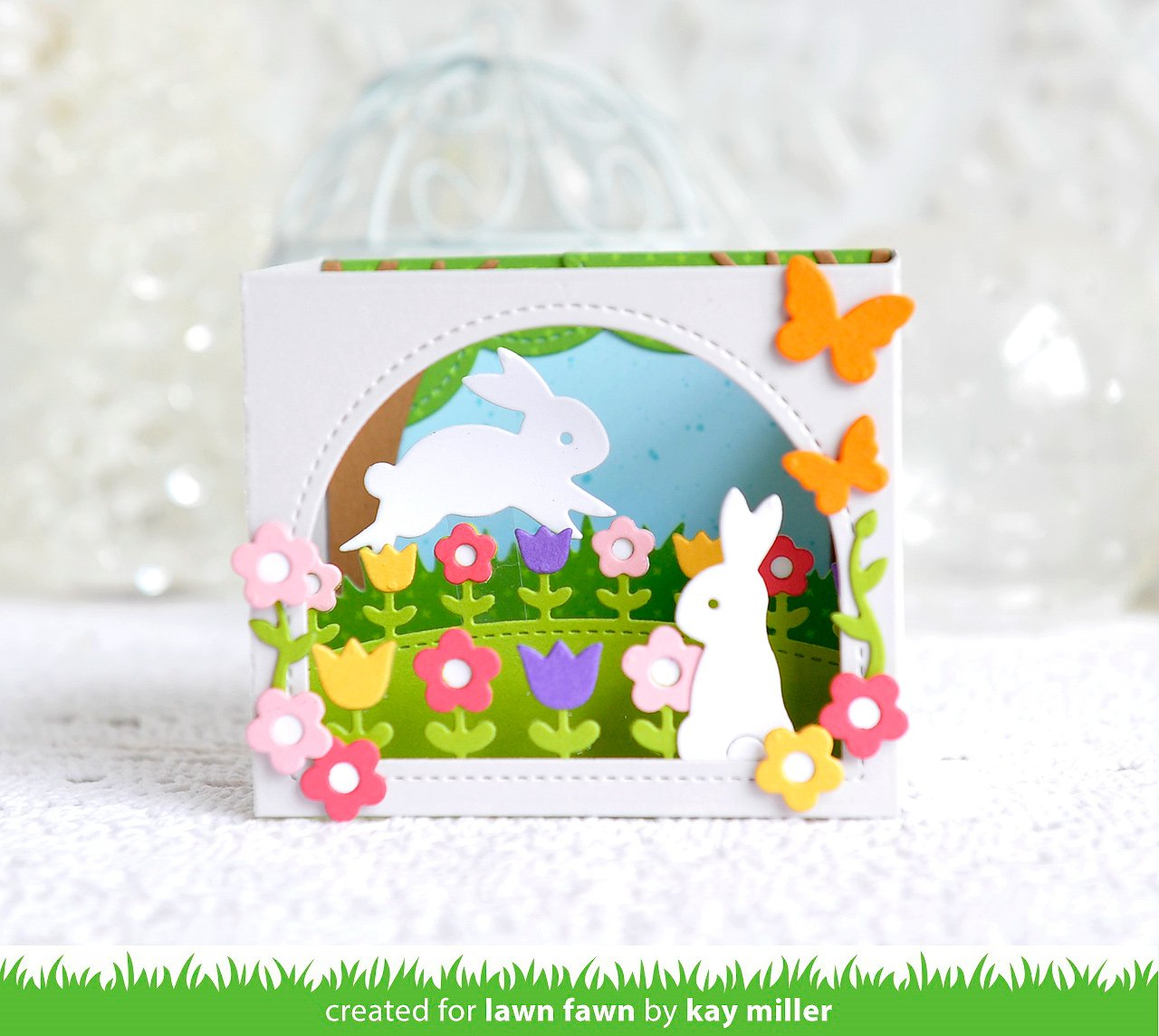 shadow box card spring add-on