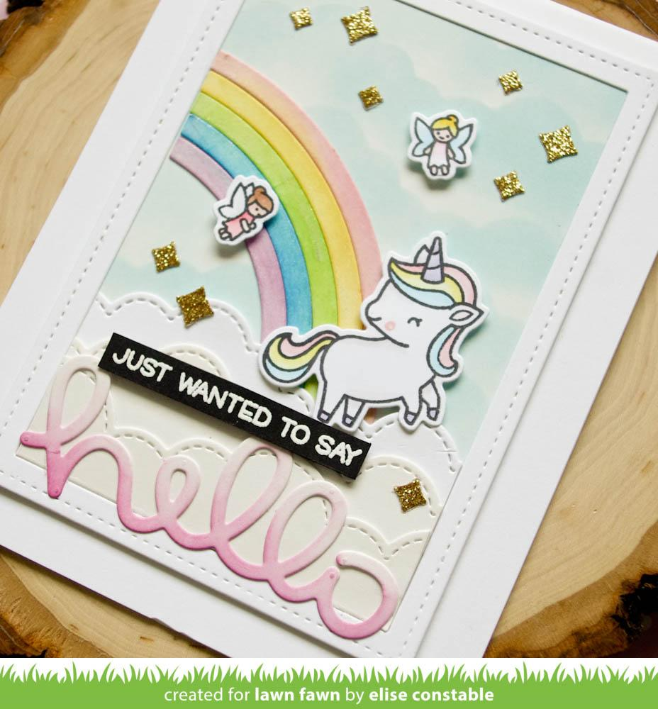 shadow box card rainbow add-on