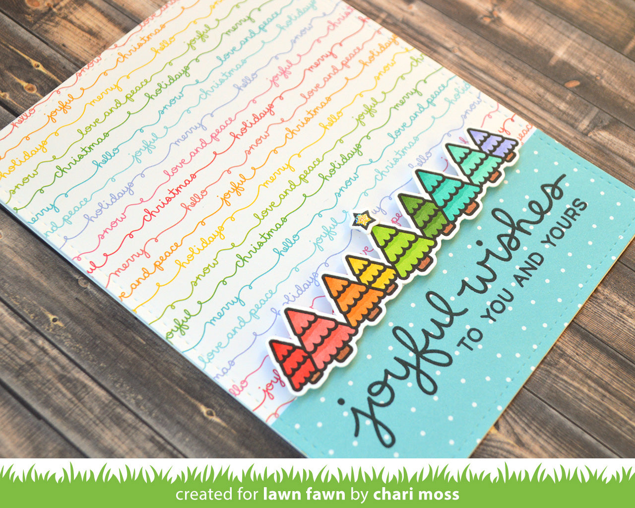 really rainbow christmas petite paper pack