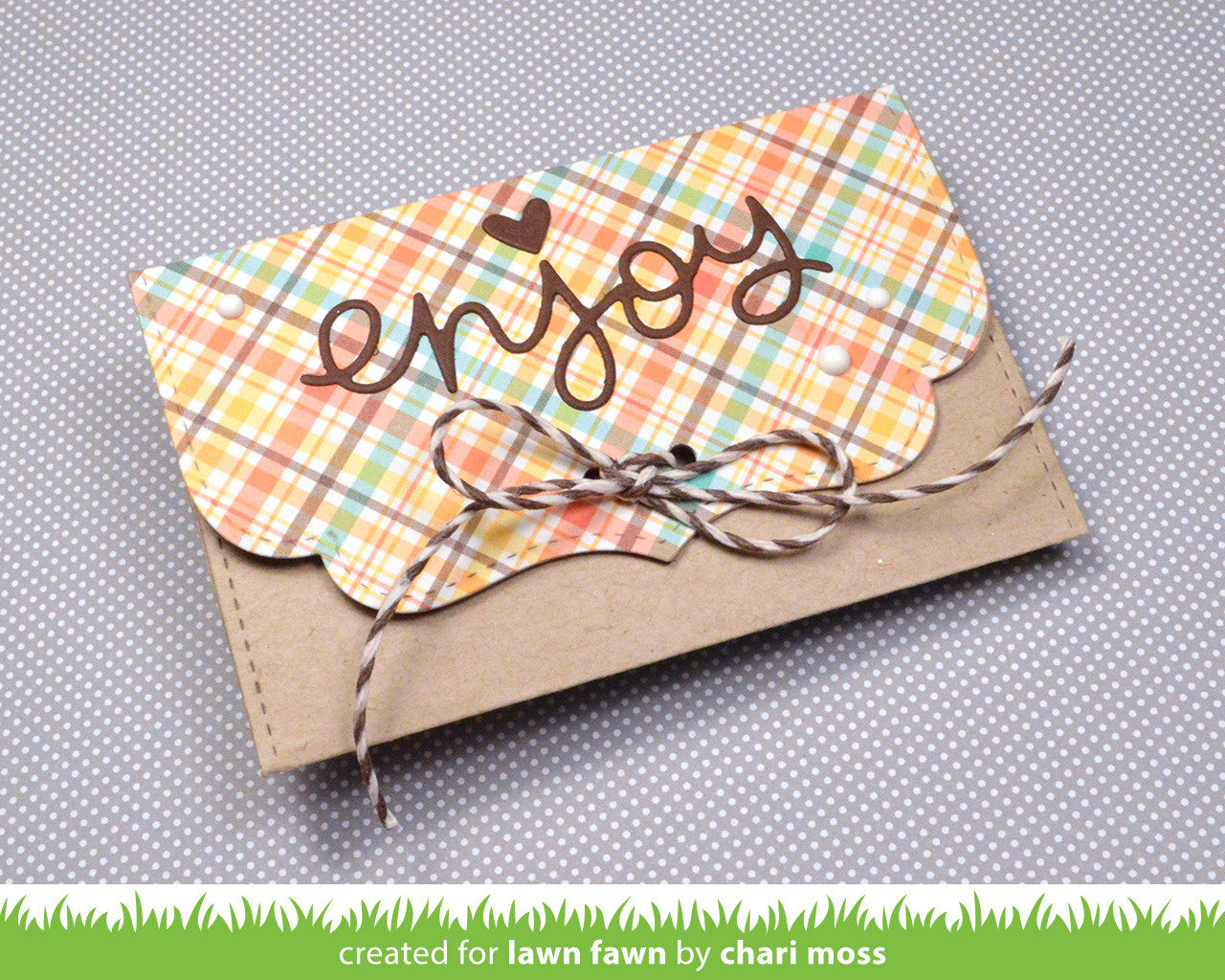 small stitched envelope