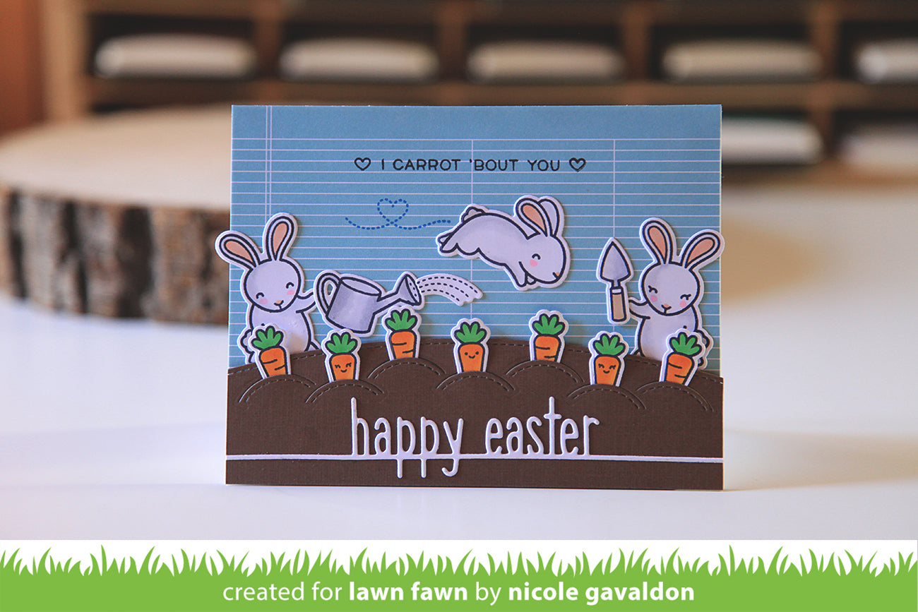 happy easter line border