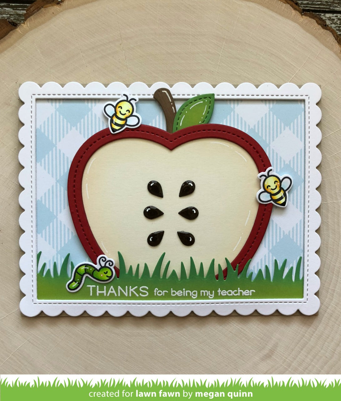 stitched apple frames