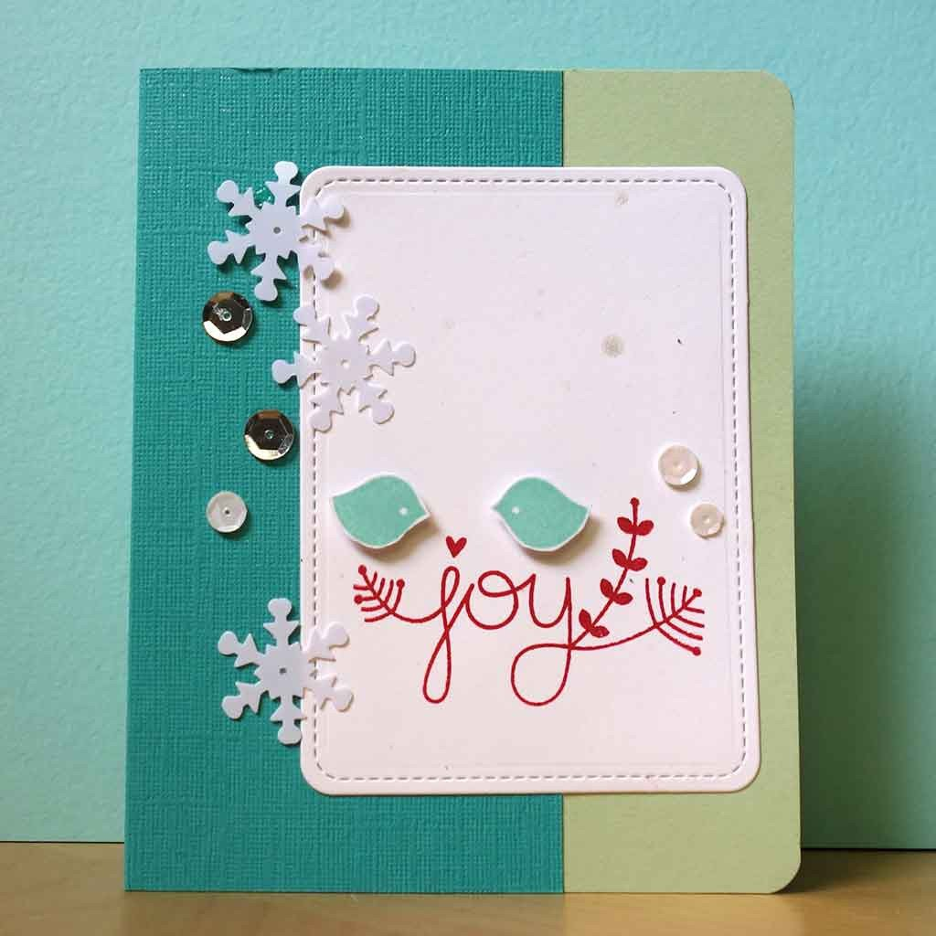 stitched journaling card