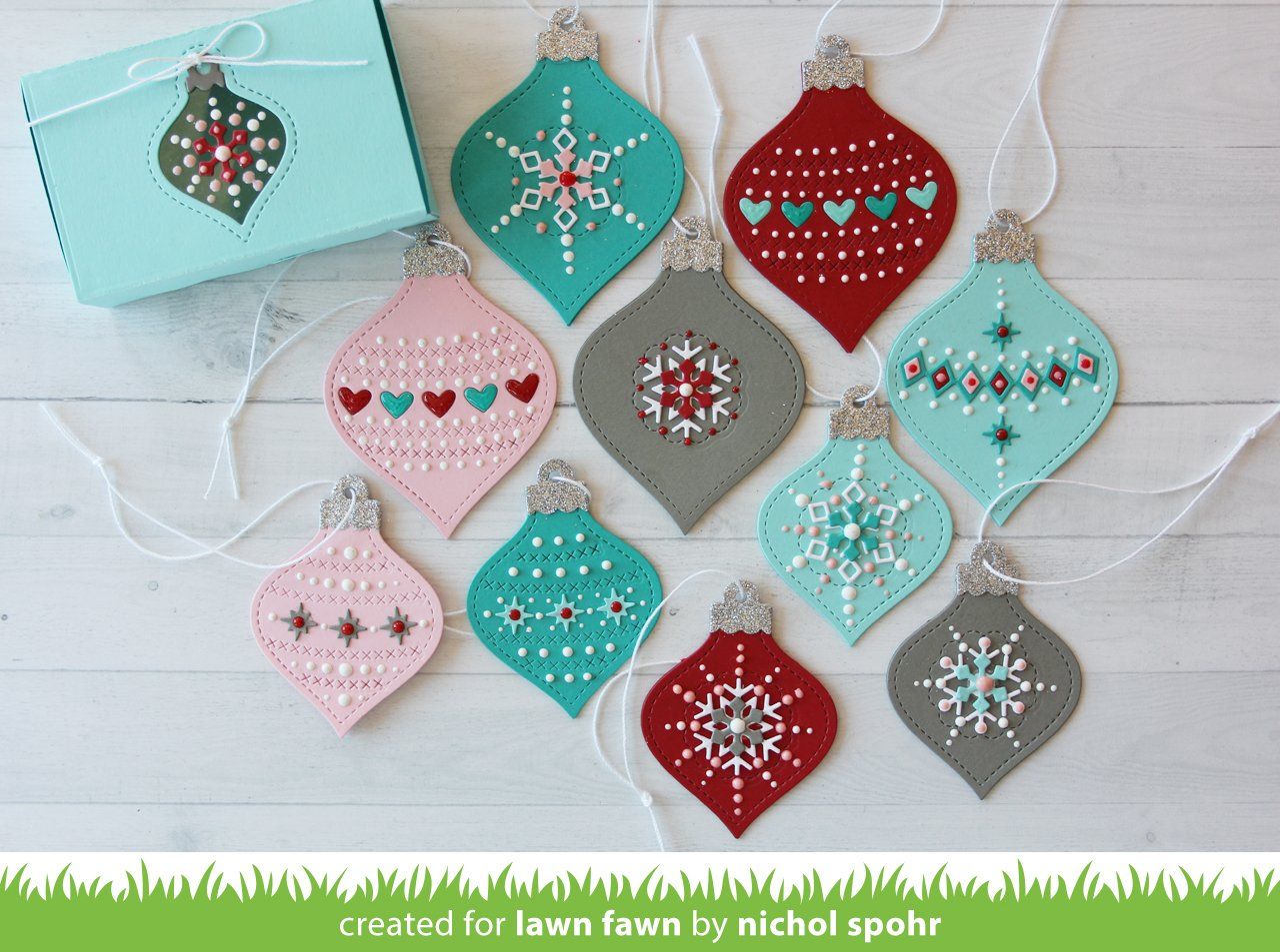 stitched ornaments