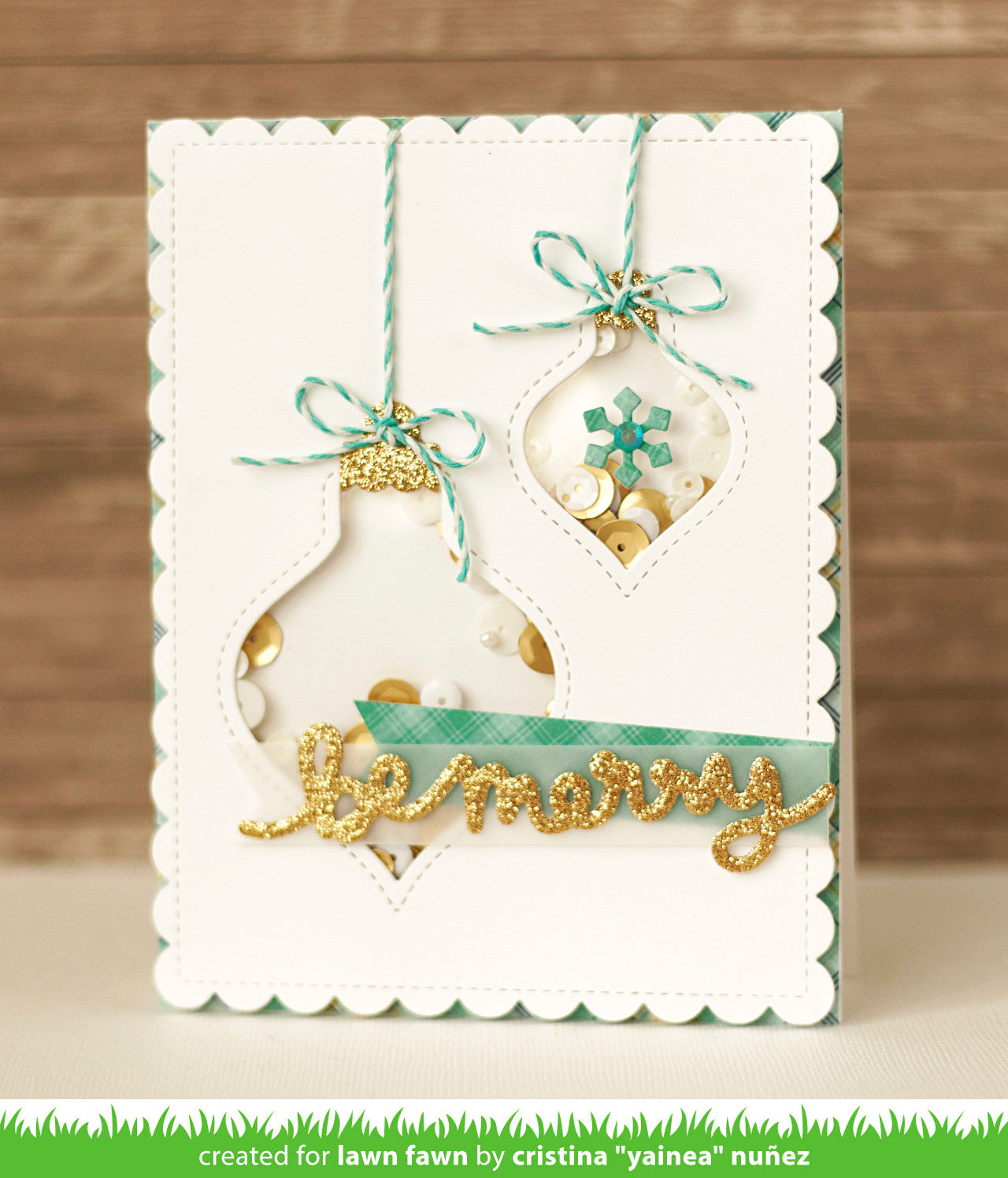 Stitched Ornaments Lawn Fawn