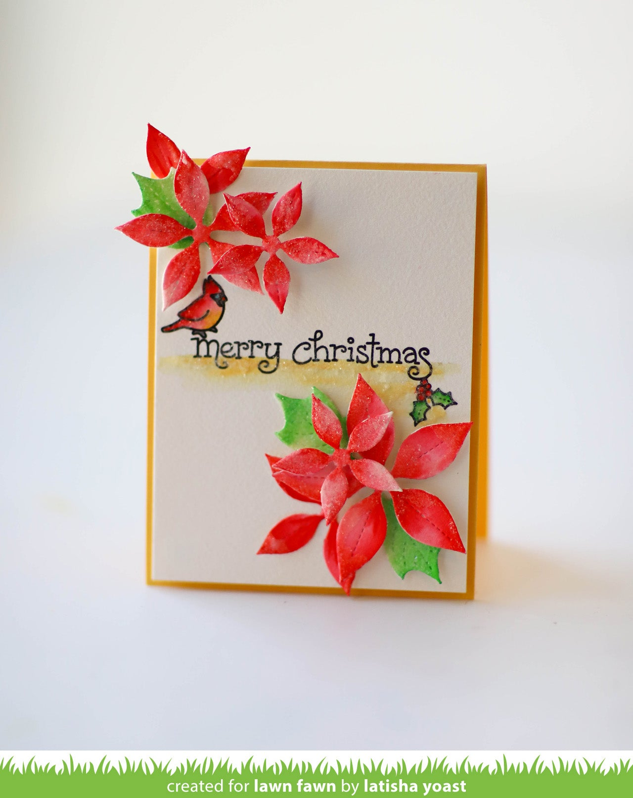 stitched poinsettia