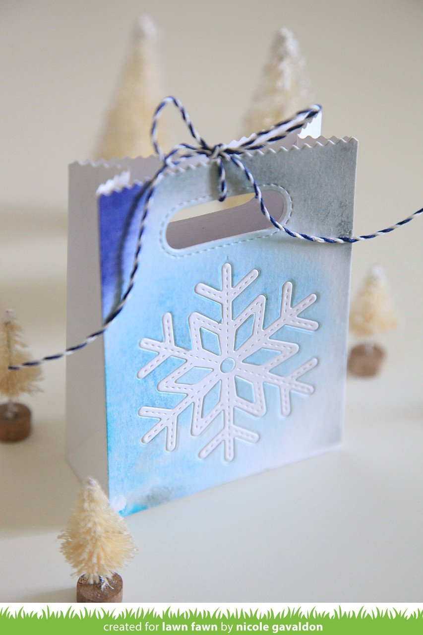 stitched snowflakes