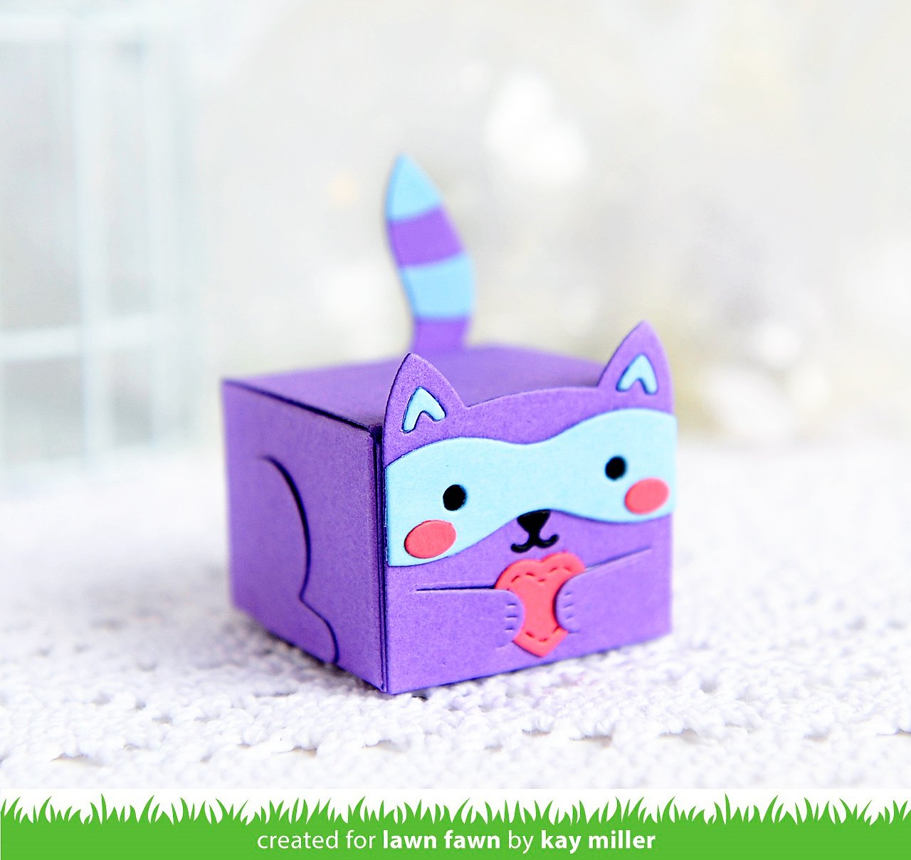 tiny gift box raccoon and fox add-on