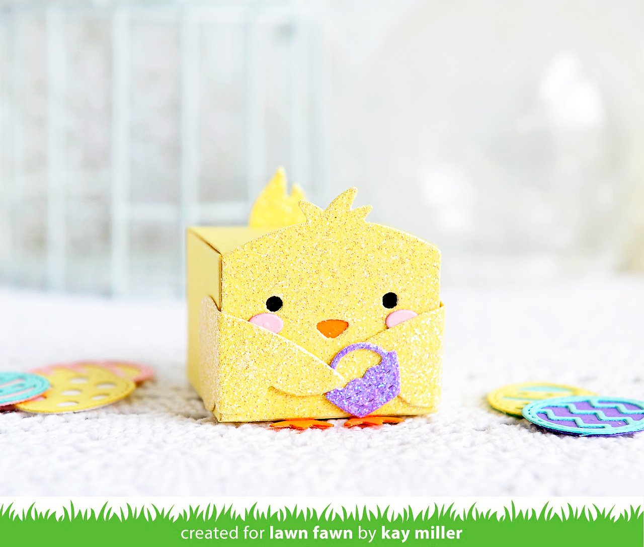tiny gift box chick and duck add-on
