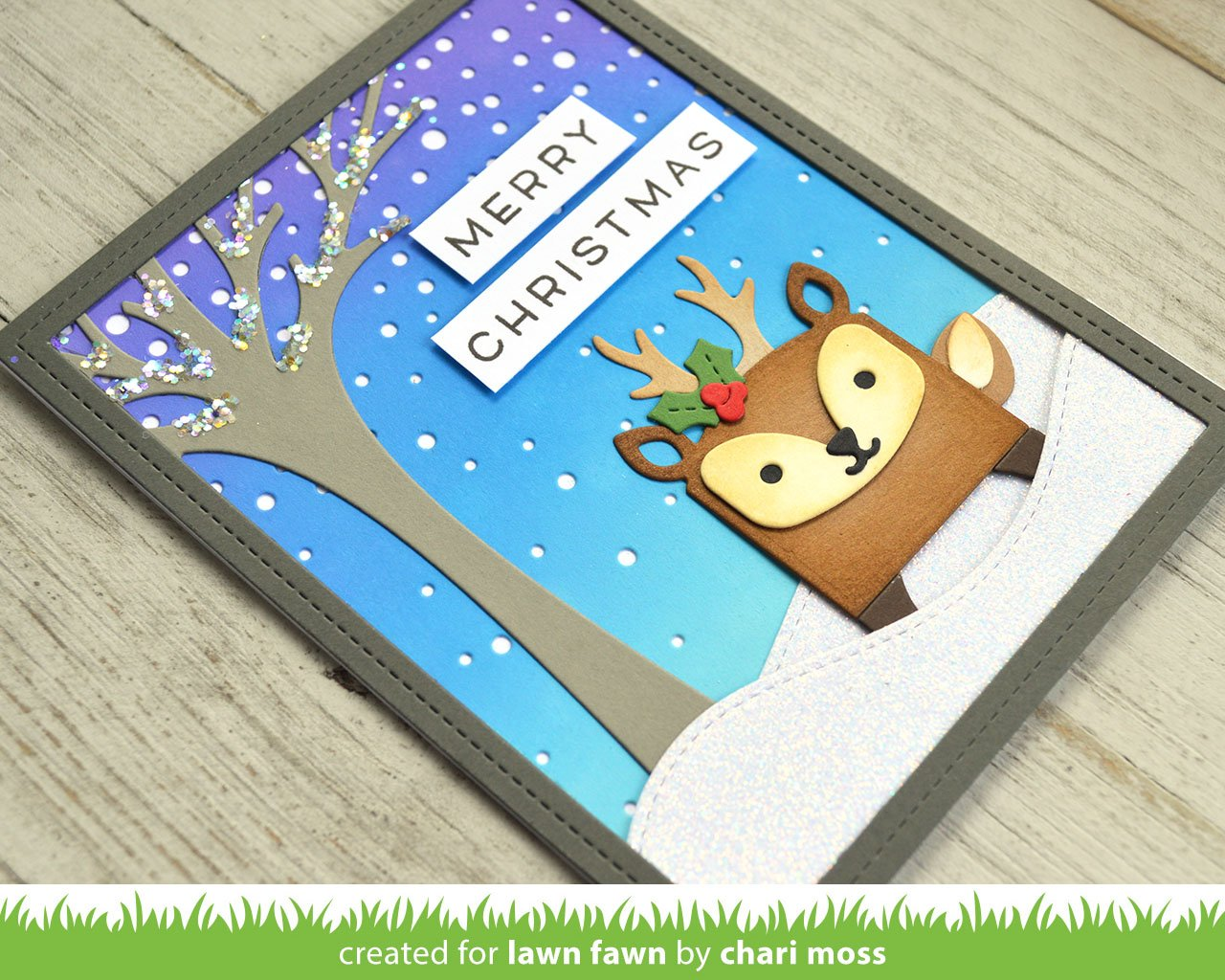 tiny gift box deer add-on