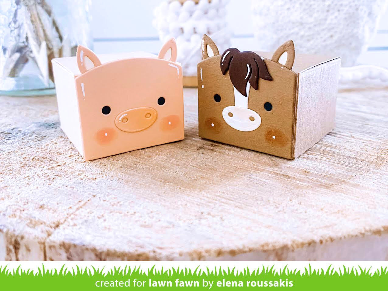 tiny gift box unicorn and horse add-on