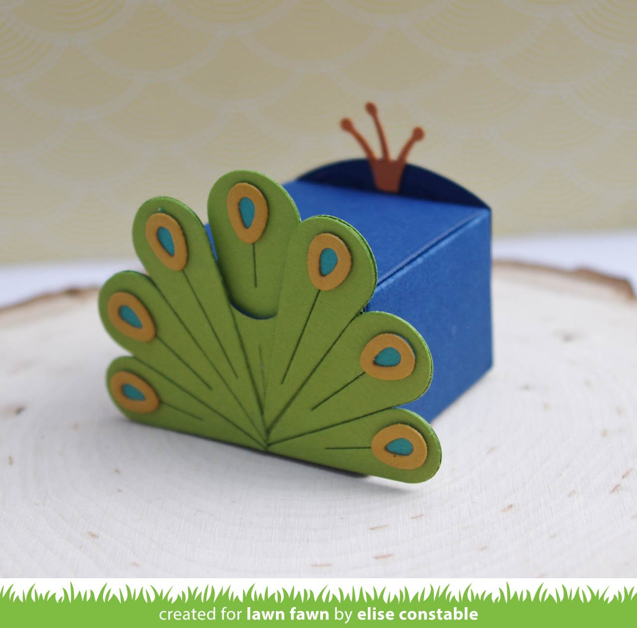 tiny gift box peacock and turkey add-on