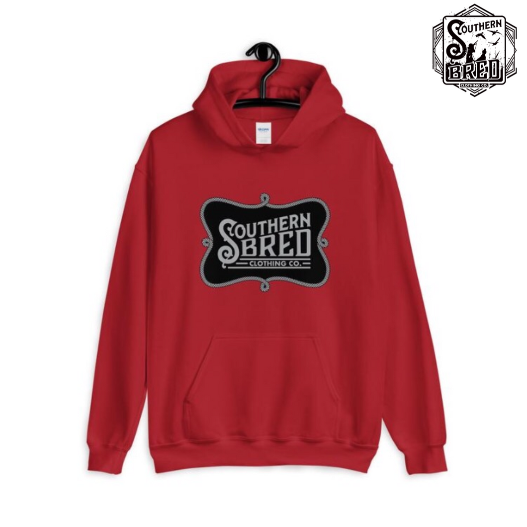Southern Bred Hoodie (Red w/black)