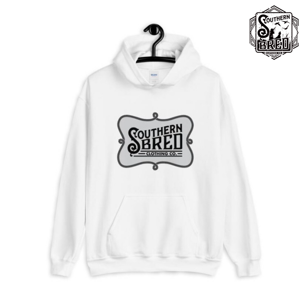 Southern Bred Hoodie (White w/grey)