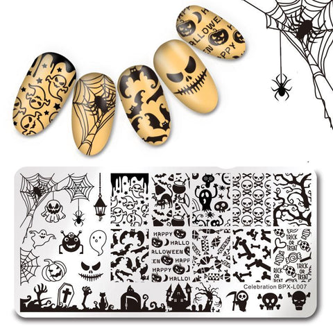 Halloween Themed Nail Stamping Plates