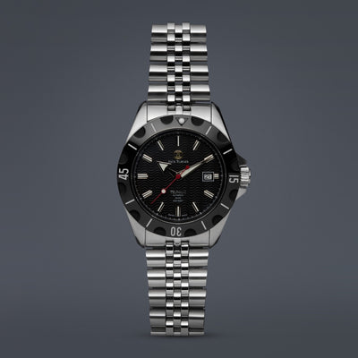 "The ""TSUNAMI"" Limited Edition Swiss Automatic Dive Watch"