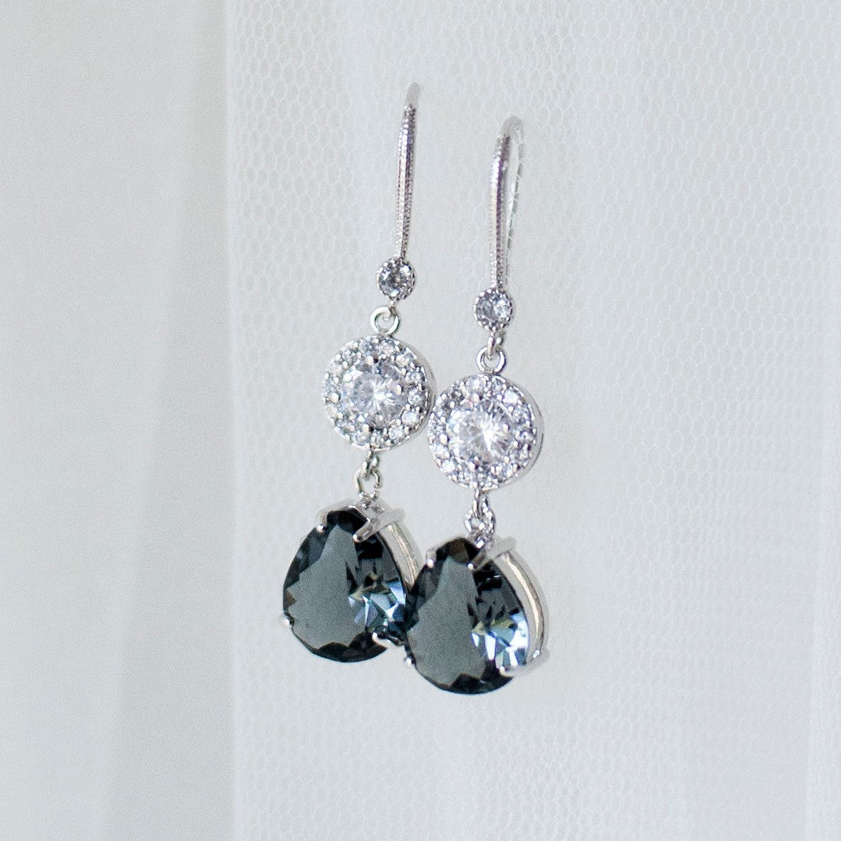 Iris Crystal Drop Earring