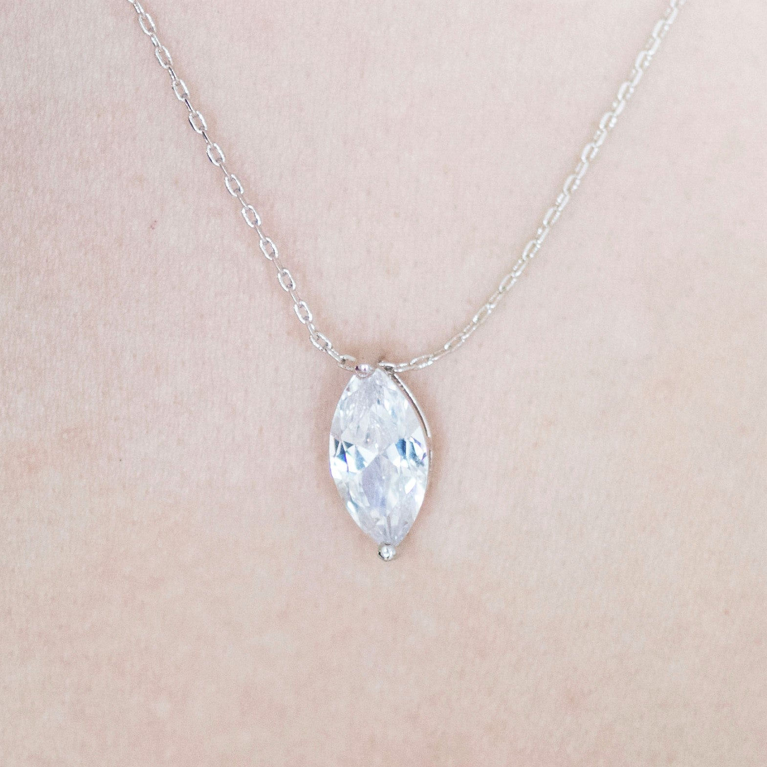Ava Crystal Pendant Necklace