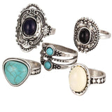 Flawless 5pcs/Set Women Rings Bohemian Vintage