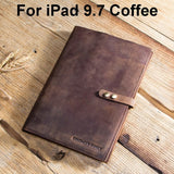 Luxury Retro Cowhide Leather Case Cover For iPad 9.7 5 6 Air 1 2 Mini MacBook Pro 9.7 10.5 11 Tablet Sleeve Pouch Notebook Bag