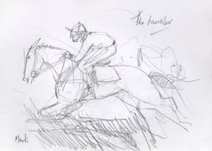 Mark Huskinson sketch of The Hurdler