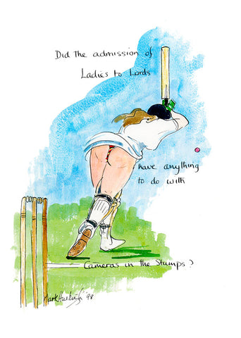 Ladies At Lords - cricket art print by Mark Huskinson