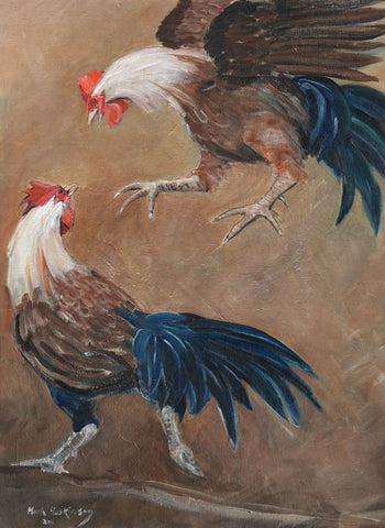 CH001 - cockerel art print by Mark Huskinson