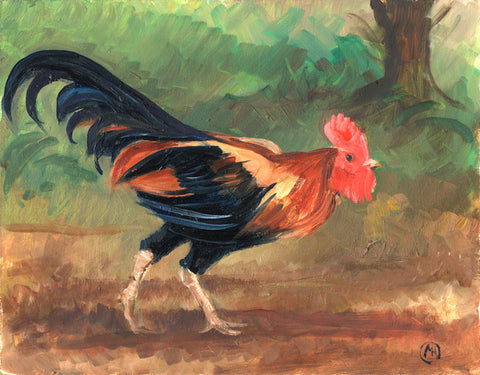 CH002 - cockerel art print by Mark Huskinson
