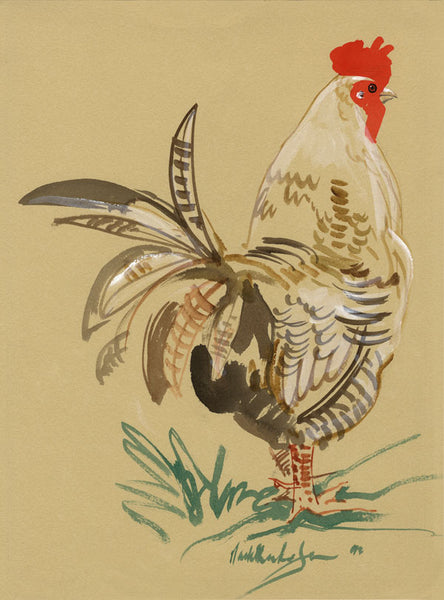 CH006 - cockerel art print by Mark Huskinson