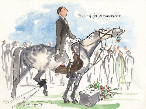 Seven For Amusement - dressage art print by Mark Huskinson