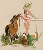 The Judges - equestrian art print by Mark Huskinson