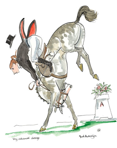 Very Advanced Dressage - equestrian art print by Mark Huskinson