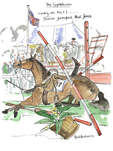Carry On No. 17 - equestrian art print by Mark Huskinson
