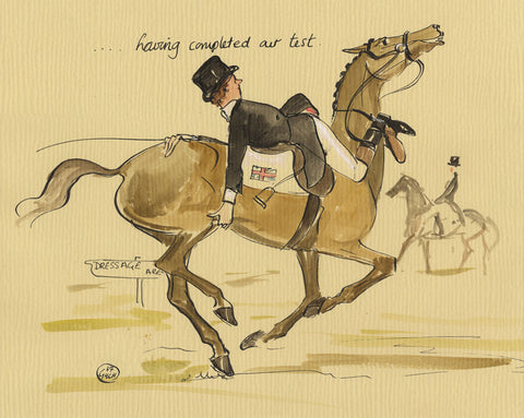 Having Completed Our Test - dressage art print by Mark Huskinson