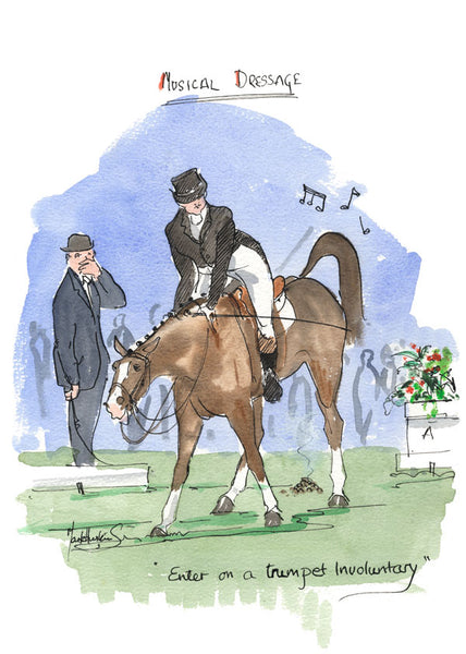 Musical Dressage - equestrian art print by Mark Huskinson