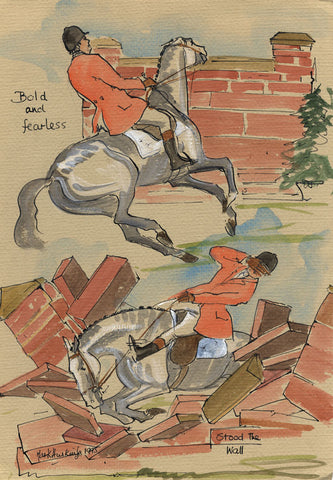 Bold And Fearless Stood The Wall - equestrian art print by Mark Huskinson