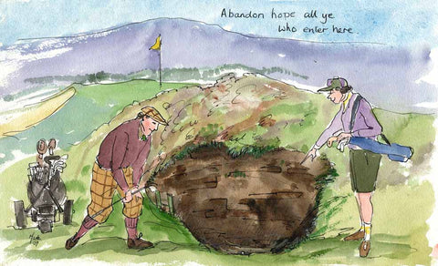 Abandon Hope - golf art print by Mark Huskinson