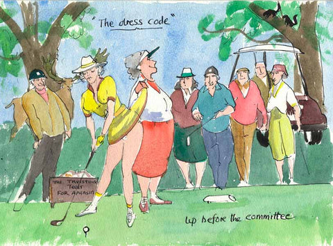 The Dress Code - golfing art print by Mark Huskinson